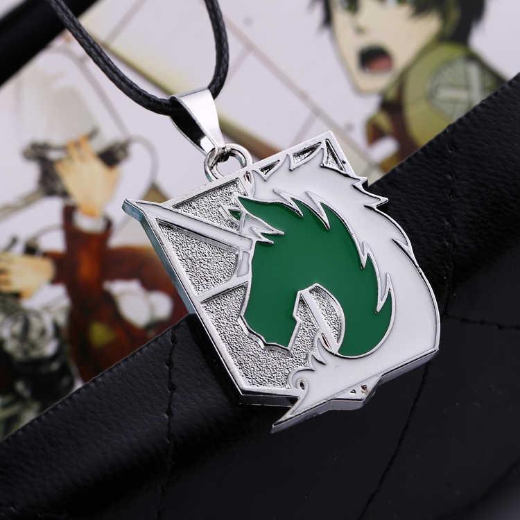 Hot Anime Movie đồ trang sức Tấn Công trên Titan loạt Hợp Kim vòng cổ Quân Sự trung đoàn Cảnh Sát màu xanh lá cây unicorn Anime trang sức mặt dây chuyền