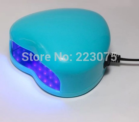 New 110v or 220v LED Lamp Soak-off Gel Polish Nail Cure UV Dryer Heart-shaped 3W Manicure Machine blue коврик для мышки printio серая кошка
