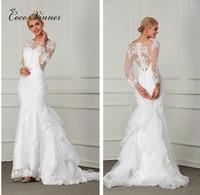 C V Sexy Lace Mermaid Wedding Dress 2017 New Plus Size Custom Made European Design Small