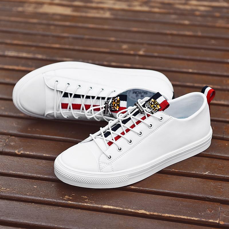 SUROM 2018 Autumn New Men s Tenis Sneakers Black White Color Men Casual Shoes Classic Fashion