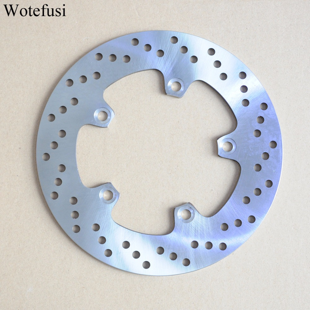 Wotefusi Motorcycle New One Piece Rear Brake Rotor Disc For Suzuki AN650 2004 2005 2006 2007 2008 2009 2010 2011 2012 [PA404] new brand motorcycle accessories gold front brake discs rotor for suzuki gsxr1000 2005 2006 2007 2008