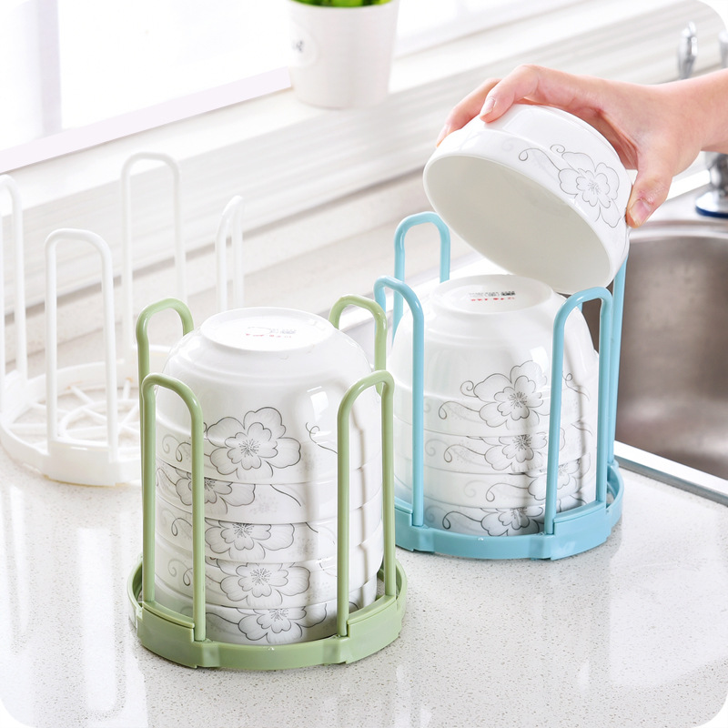 Creative Bowls Organizer Kitchen Cabinet Storage Rack Drain Water House Dish Rack Bowl Holder Plastic Grids Kitchen For storage