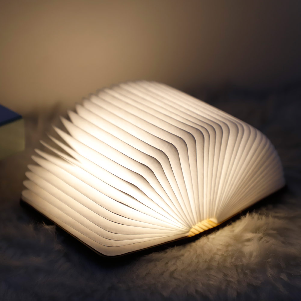 Mini Origami Book Lamp Folding USB Charging LED Night Lights Bedroom Decor Light New Sale Book Lamp for Kids