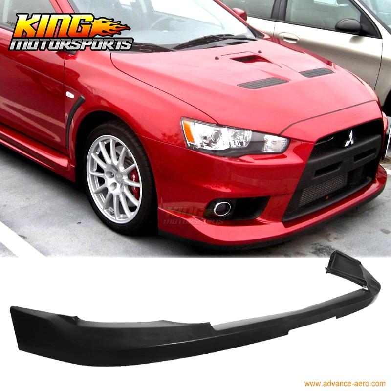 Fits 06-07 Mitsubishi EVO 9 EVO ONLY Urethane RALLIART Style  Front Lip