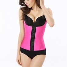 Adjustable Shoulder Strap Pink Waist Trainer Vest Corset Women  Hook Steel Boned Cincher Tummy Control Slimming Shapewear