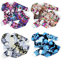 girl set Peacock Butterfly Kids Clothing baby clothing set Children's set Fashion Clothes baby Sets children clothing