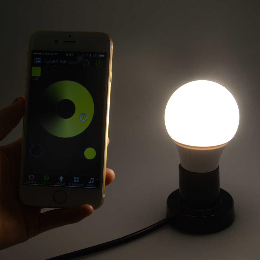 Foxanon Bluetooth 4.0 E27 żarówka 4.5 W RGBW AC85-265V led lampada inteligentny Soptlight lampa zmiana koloru dla zużycia energii W domu oszczędność