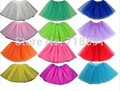 In Stock! Girls Tutu Skirts, Children ball gown colorful party skirts kid single tulle lace skirts 5pcs/lot b41