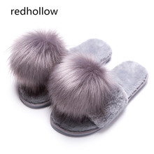 Winter Slippers Women Flat Home Casual Shoes Faux Fur Warm Shoes Cute Slippers Woman Slip On Slides Flip Flops Fashion Slippers недорого
