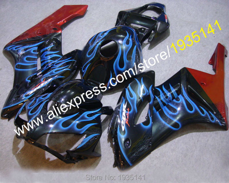 Hot Sales,Motorcycle fairing For Honda CBR1000RR 2004 2005 CBR 1000 RR 04 05 blue flame red black fairing (Injection molding) hot sales all white for honda vtr1000f 97 05 97 98 99 00 01 02 03 04 05 vtr1000 f vtr 1000 f 1000f 1997 2005 fairing