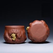 Monkey Master Cup Kung Fu font b tea b font set in Yixing Raw ore purple