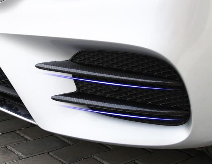 Excellente nouvelle voiture avant antibrouillard couverture de calandre Refit garniture pour Mercedes Benz classe E W212 E200L E300 2016 accessoires style de voiture