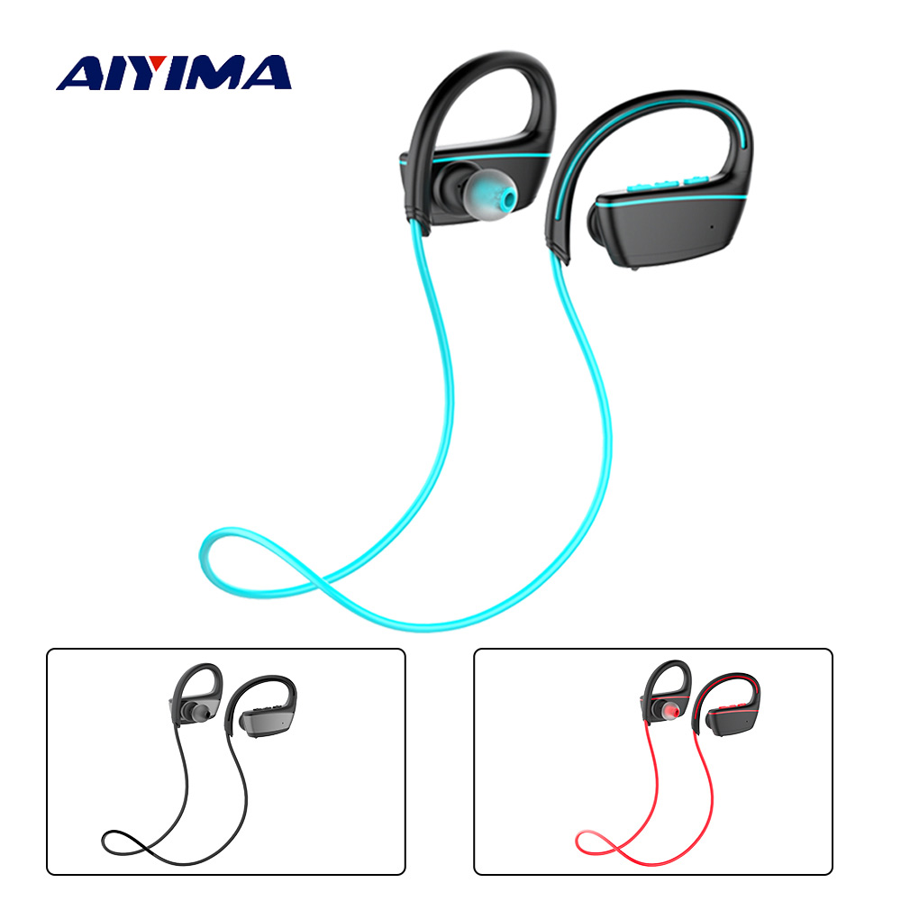 AIYIMA Ecouteurs Swimming Waterproof Sports Earphones IPX7 Wireless Auriculares Bluetooth Deporte In Ear Headphones Auricular
