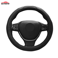 Environmentally Comfortable Leather Fabric Steering Wheel Covers Car Styling Wearable Anti Slip Steering Wheel Cover Accessories