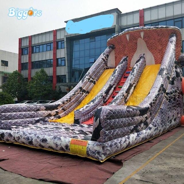 ใหม่มาถึง Snake Theme Inflatable Bounce House ปราสาทกระโดดสไลด์เครื่องเป่าลม