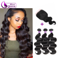 Queen Hair With Closure And Bundles Rosa Hair Brazilian Body Wave With Closure Human Hair 3 Bundles With Lace Closures Ali Moda