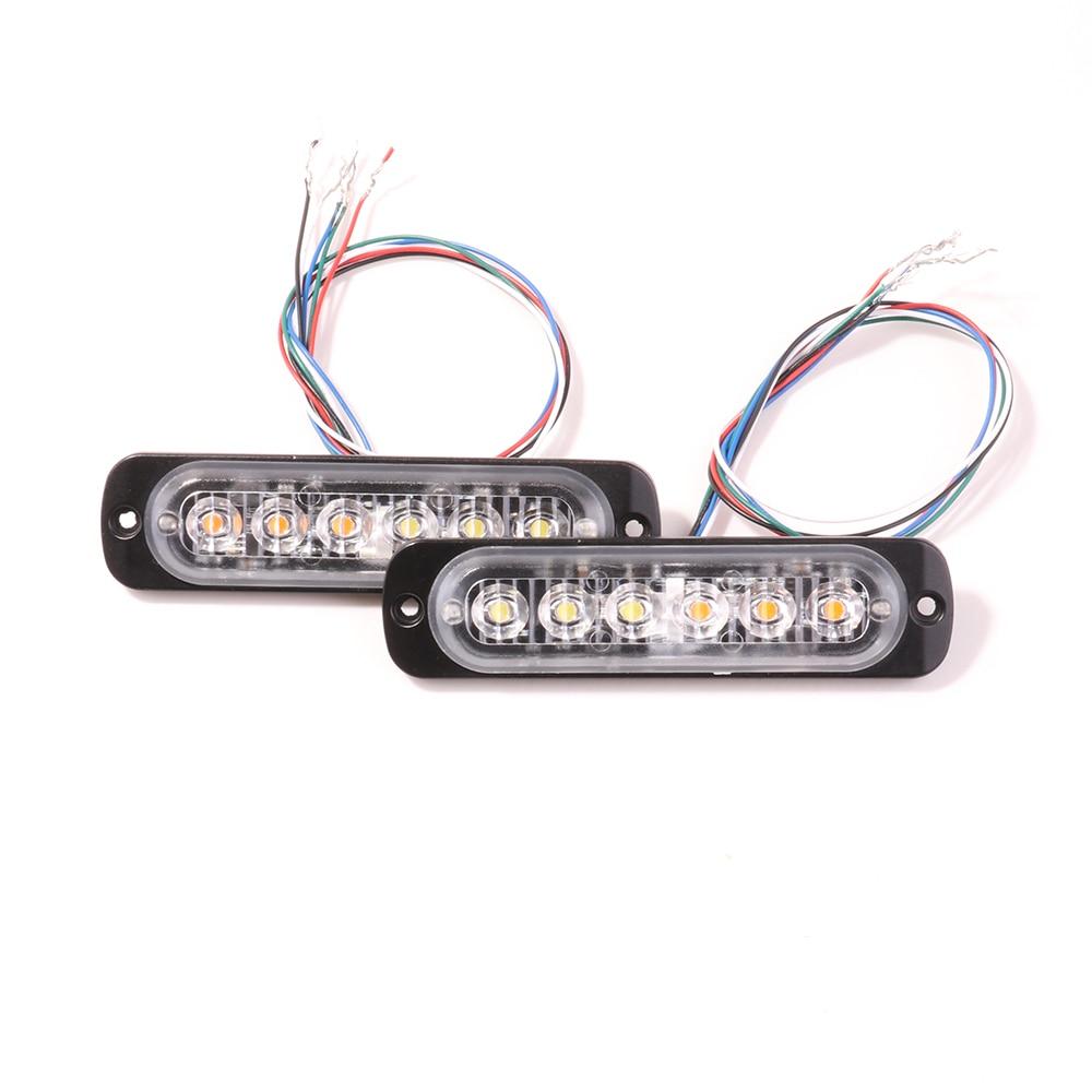 Bogrand Led Beacon Emergency Strobe Flashing Warning Grille Light Ip65 Security Car Alarm Lamp Dc12-24v Vehicle Lighting Blue