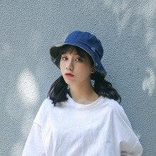 9fb70e20895 2018 Summer Bucket Hat Vintage Denim Outdoor Fishing Sun Girls Panama Bucket  Cap