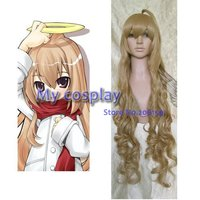 Cosplay wigs Anime TIGER DRAGON cosplay wig Aisaka Taiga full hair 100cm long curly wigs For Halloween Free shipping