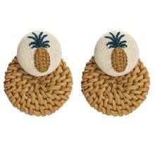 Женские серьги гвоздики mwsonya из фланелета с вышивкой ананаса