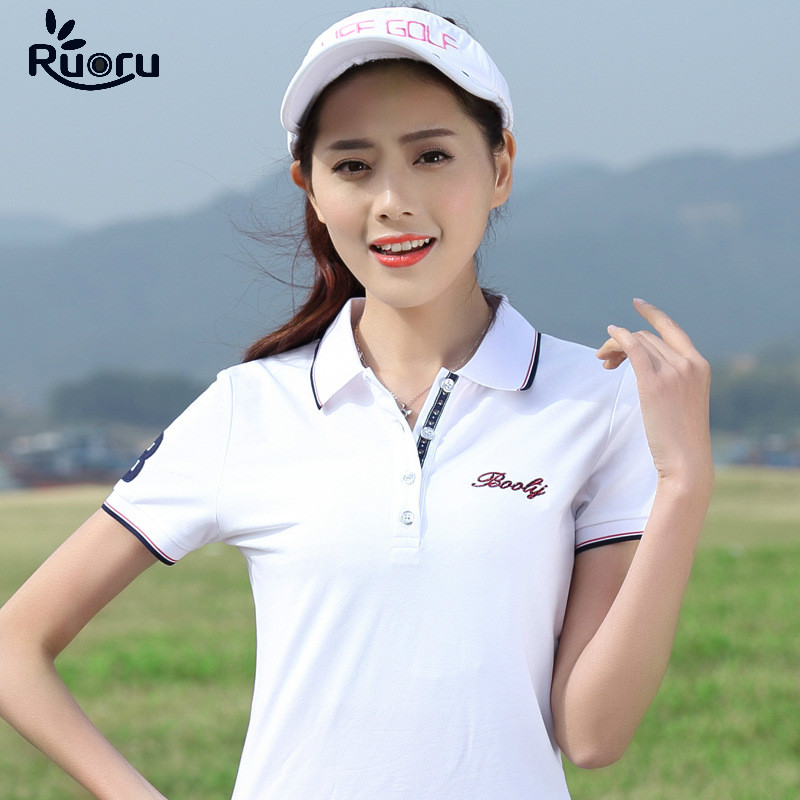 Ruoru M - 4xl Plus Size Polo Shirt Women Cotton Femininas Fashion Short Sleeve Summer Female Tops High Quality Femme