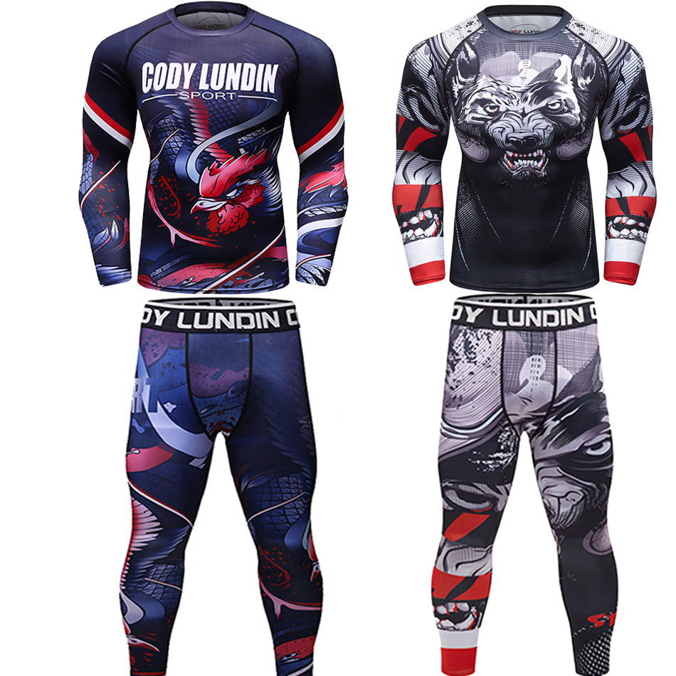 Mma Rashguard Bjj Men T-shirt Muay Thai Shorts Breathable MMA Rashguard Boxing Jerseys GI Jiu Jitsu Kickboxing Pants Sport Suits
