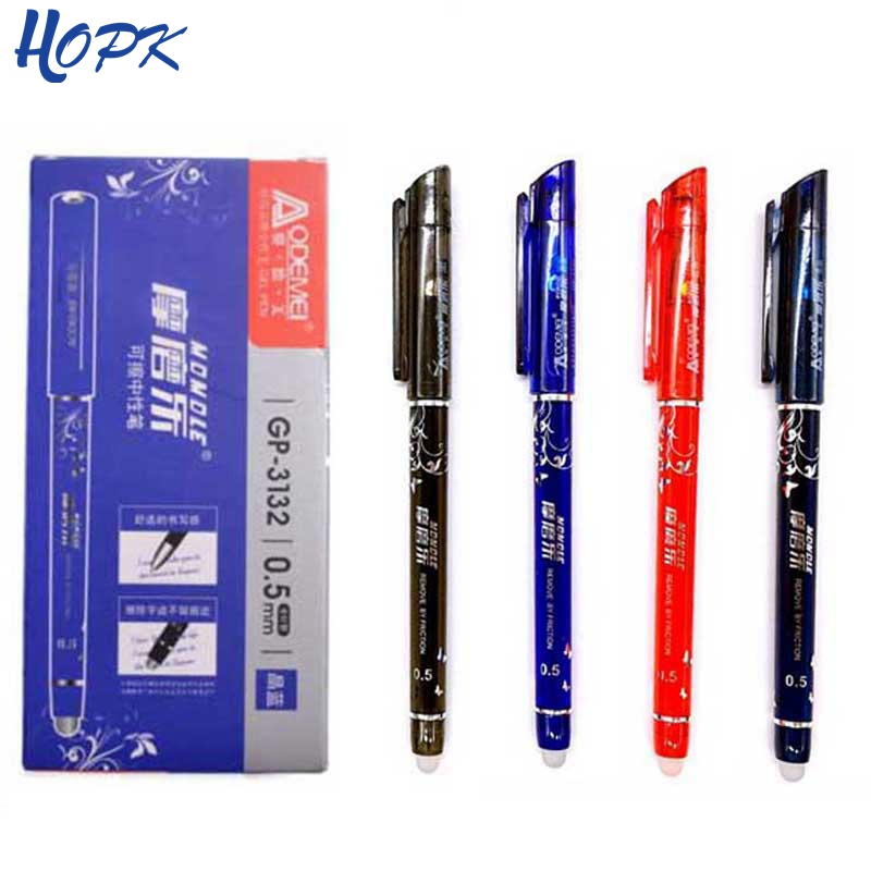 1 Pcs Erasable Gel Pen Refills Is Red Blue Ink Blue And Black A Magical Writing Neutral Pen 0.5mm Erasable Pens Washable Handle