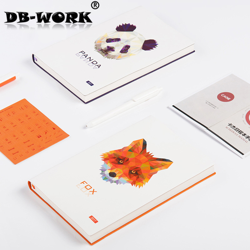 2018 A5 week schedule the plan diary book notebook notebook Korea creative stationery diary hand account the original notebook sim portable models notebook diary book creative traveler hand accounting stationery notebook diary book
