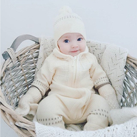 2019 Baby Girl Clothes Winter Newborn Rompers Bebe Jumpsuits Knit princess fashionable Toddler Costume Infant Boys Cotton Onesie