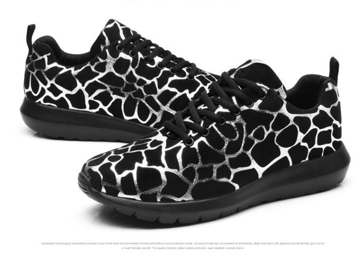 Women Leopard flats shoes Sneakers soft Lace up shoes 2018 brand fashion women shoes casual shoes CL-07