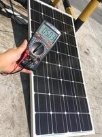 Ship from Russia WORKSTAR 18V 100W Solar Panel For 12V Battery Charger RV Car Roof 100 watt 18v Mono Solar Photovoltaic Panel