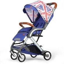 fa967af69 2019 luz cochecito de bebé de verano de viaje simple de bebé plegable puede  sentarse y pones una mano plegable mano empuje coche.