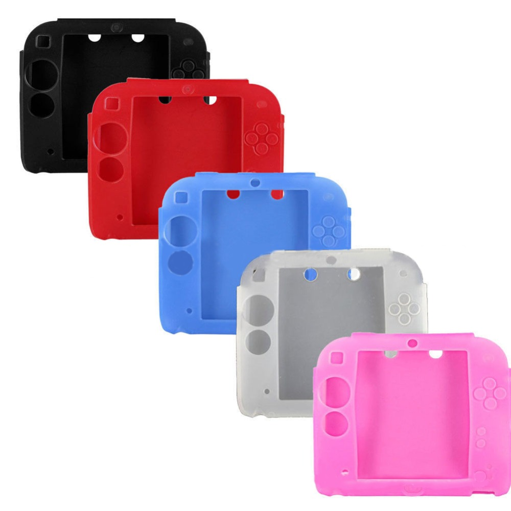 Soft Silicone Skin Case Cover for 2DS Game Protective Cases waterproof Dust-proof Drop-proof for 2DS host protector Case