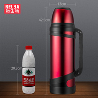 3.L high quality Outsize Vacuum hot cold Bottle Stainless Steel Insulated flask outdoor Travel Thermos hydro Flask camping mug