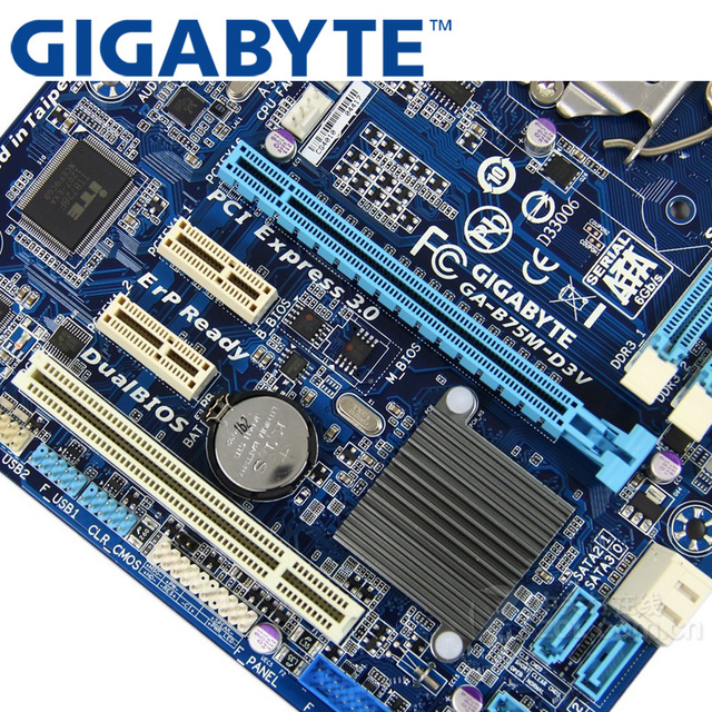 GIGABYTE GA-B75M-D3V płyta główna pulpitu B75 gniazdo LGA 1155 i3 i5 i7 DDR3 32G Micro ATX oryginalny B75M-D3V używane
