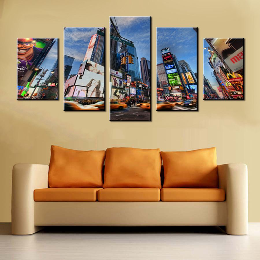 Poster Art Canvas Wall Decor New York Times Square Street Landscape ...