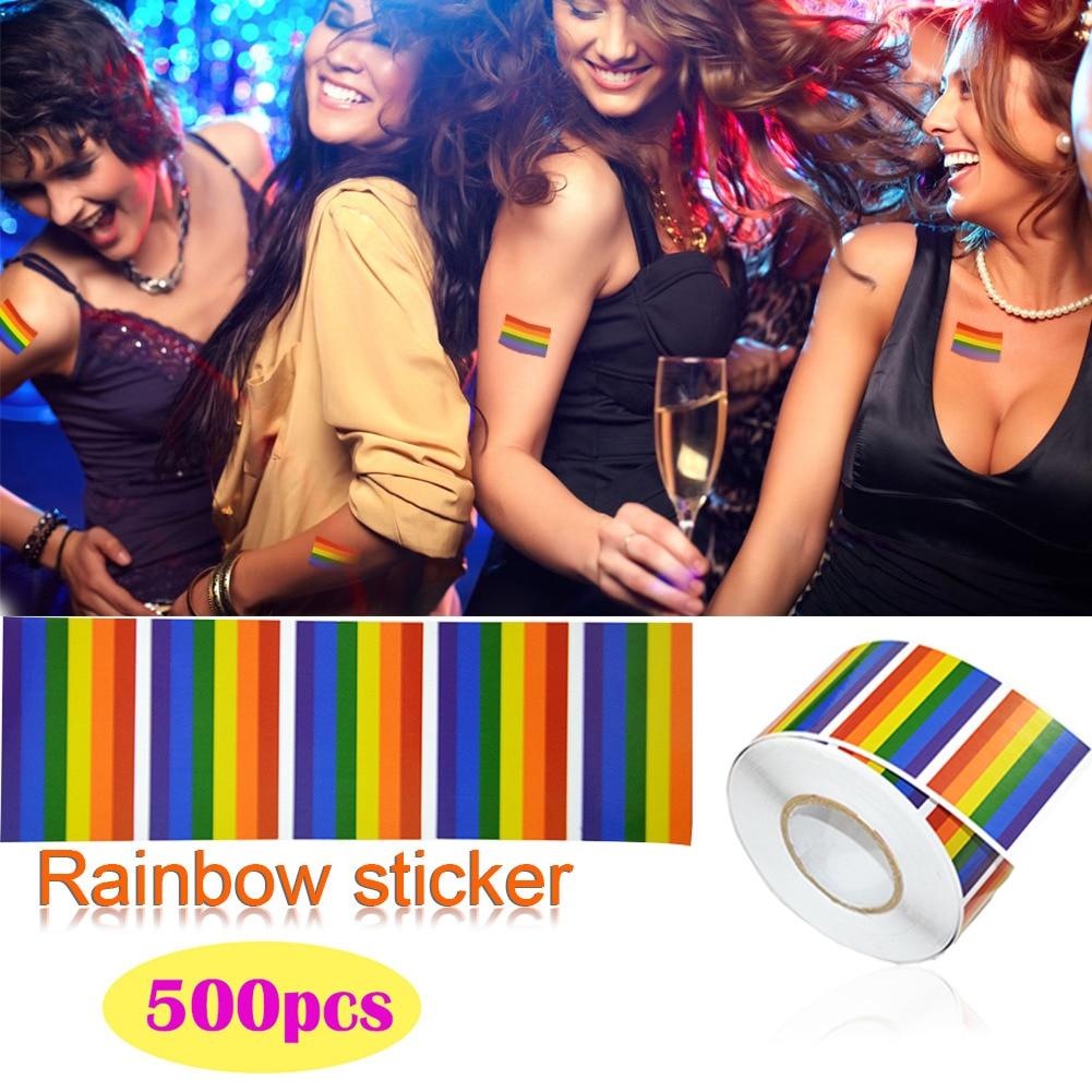 de parede do arco-íris adesivos para roupas