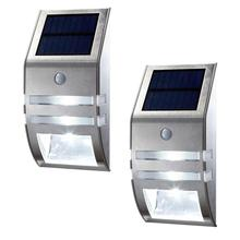Super Bright Led Stainless Steel Household Solar Energy Garden Light Outdoor Wall Lamp Human Body Induction Street