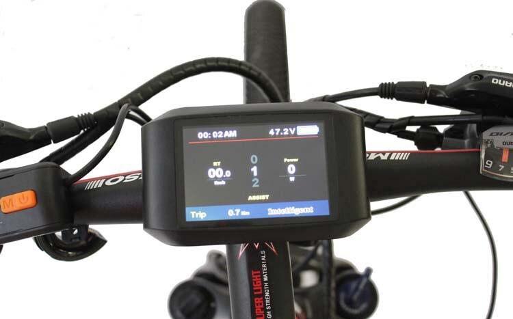 ConhisMotor Ebike 24/36/48 V LCD TFT 750C affichage couleur disponible vélo électrique BAFANG moteur d'entraînement intermédiaire BBS01 BBS02 BBS03 BBSHD