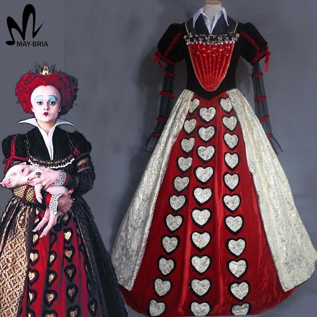 Alice In Wonderland 2 Red Queen cosplay costume Halloween