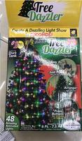 64 and 48 light Star Shower Tree Dazzler Christmas Tree Light Show by BulbHead