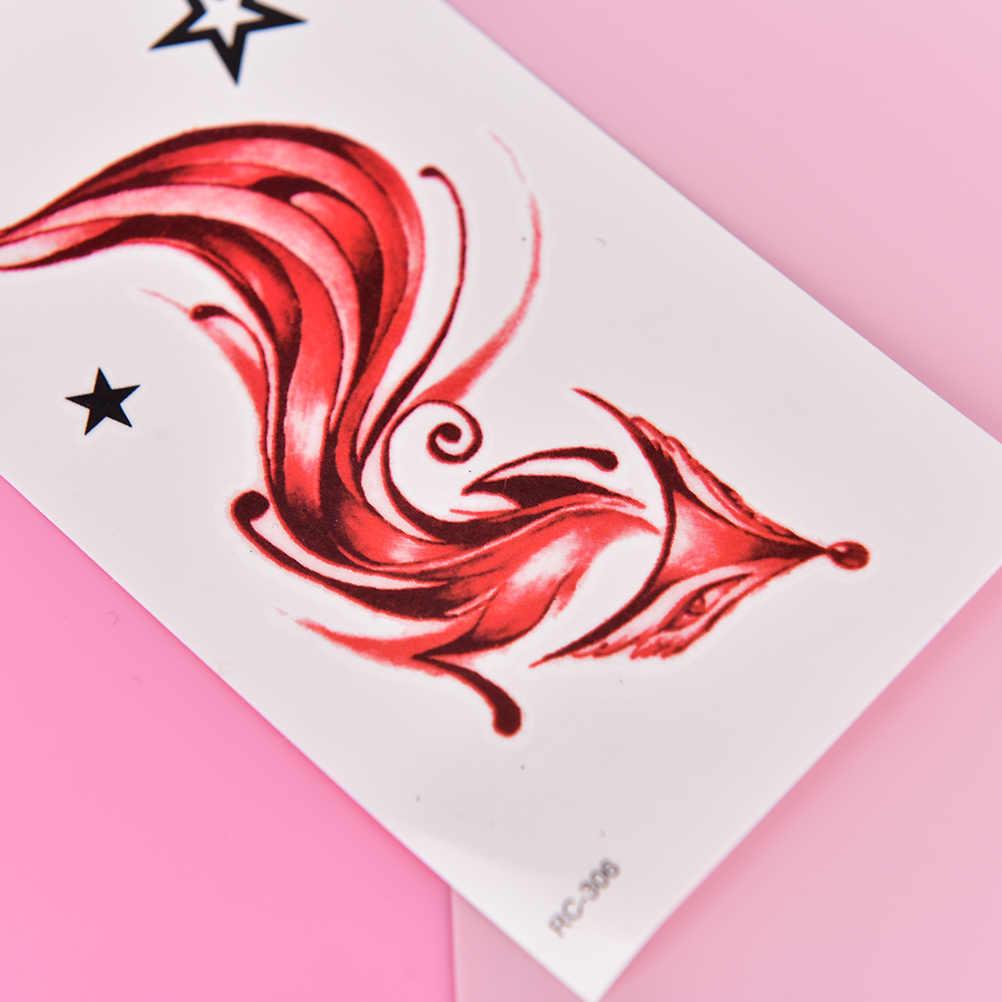 Animale Volpe Tatuaggio Temporaneo per Le Donne di Arte di Corpo Impermeabile Autoadesivo Del Tatuaggio Del Tatuaggio di Falsificazione