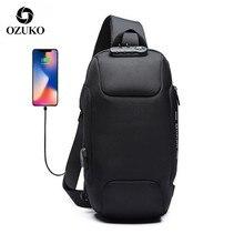 OZUKO 2020 Neue Multifunktions Umhängetasche für Männer Anti theft Schulter Messenger Taschen Männlichen Wasserdichte Kurze Reise Brust Tasche pack