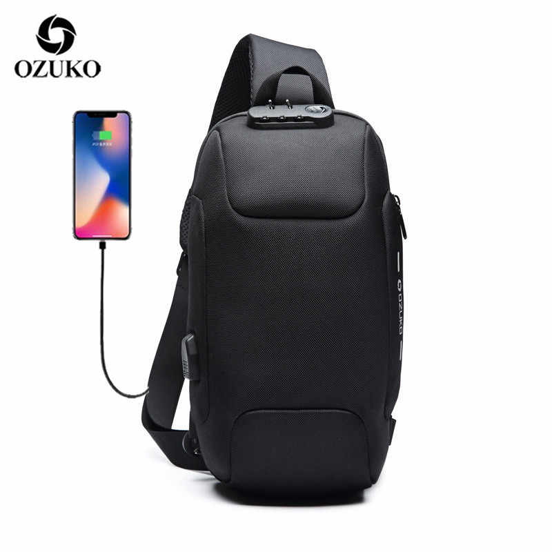 OZUKO 2020 Crossbody Bag For Men Anti Theft Shoulder Messenger Bag Waterproof