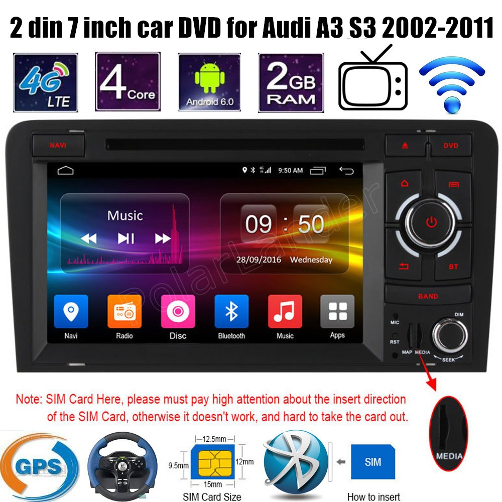 Android 6 0 7 Inch 2 din font b Car b font DVD stereo Player Wifi