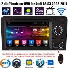 Android 6.0 7 Дюймов 2 din Автомобильный DVD стерео Player Wifi GPS Радио FM AM RDS Для A/udi A3 S3 2002-2011 поддержка камеры заднего вида