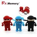 Pen Drive Ниндзя USB Флэш-Накопитель 4 ГБ 8 ГБ 16 ГБ 32 ГБ Flash карта Мультфильм U Диск Мальчик Подарок Flash Memory Stick двухместный 11 подарок
