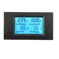 20A Digital AC Voltage Test Blue Backlight LED Power Panel Meter Voltmeter Ammeter LCD Display Measurement