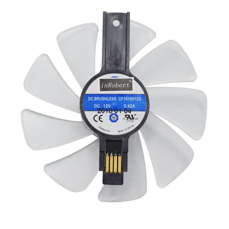95 MM CF1015H12D Engrenagem LEVOU Ventilador Refrigerador Substituição Para Safira NITRO RX580 RX570 RX480 RX470 4N001-02-20G Cartão de Fãs Gráficos