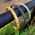 316L Stainless Steel Wrist Band Hand Pop Luxury Fashion Men Women's Punk Style Gold Plated Charm Cuff Bangle Bracelets